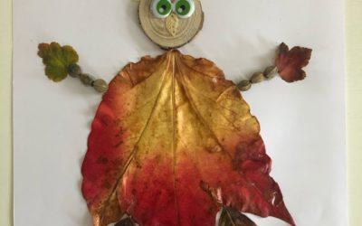 Tableaux d'automne et pâte à modeler maison