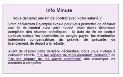 Info Pajemploi déclaration fin de contrat