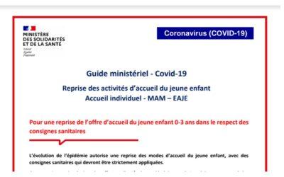 Nouveau guide ministériel / reconduction mesures Pajemploi